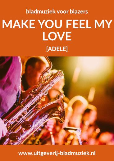 Bladmuziek van Make you feel my love door Adele