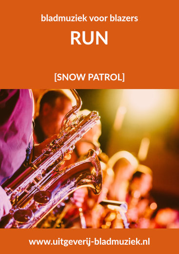 Bladmuziek van Run door Snow Patrol