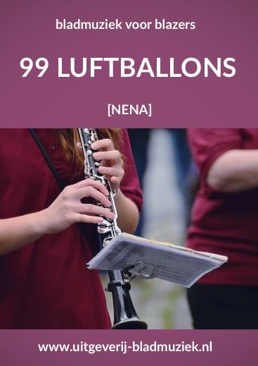 Bladmuziek van 99 luftballons door Nena