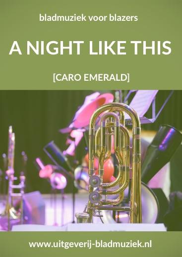 Bladmuziek van A night like this door Caro Emerald